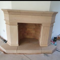 Large Bath stone fireplace with chimney breast wrap around. Natural Stone Fireplaces, Chimney Breast, Large Baths, Natural Stones, Home Decor, Decoration Home, Room Decor, Home Interior Design, Home Decoration