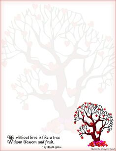 Hearts Tree Stationery