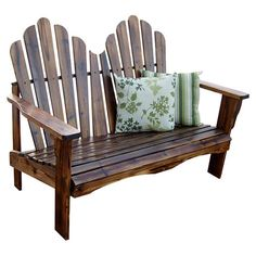Beautifully crafted of cedar wood, this classic Adirondack-style bench makes the perfect addition to your three-season porch or patio.