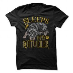 SLEEPS WITH ROTTWEILER - #tee shirts #novelty t shirts. ORDER NOW => https://www.sunfrog.com/Pets/SLEEPS-WITH-ROTTWEILER-90851909-Guys.html?60505