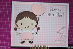 A Caffeinated Crafter: 1st Birthday Girl card