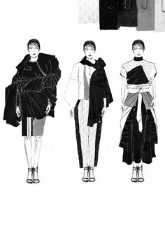 fashion portfolio // Emma Berry - The most amazing place for women's fashion. Fashion Illustration Portfolio, Fashion Design Portfolio, Illustration Mode, Fashion Design Sketches, Fashion Illustrations, Moda Fashion, Fashion Line, Fashion Art, Fashion Show