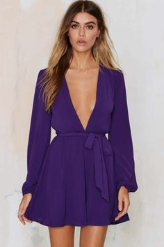 After Party Vintage Dance It Out Plunging Dress