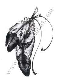 Feather tattoo. This is the one I wanted before the one I actually got!