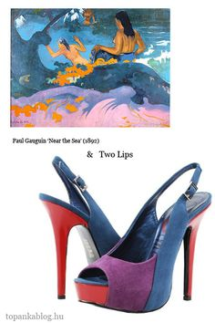 Painting by Paul Gauguin, shoes by Two Lips