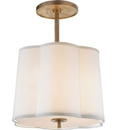 Visual Comfort Barbara Barry Simple 3 Light Hanging Shade in Bronze with Wax BBL5016BZ-S | Visual Comfort Lighting Lights | Visual Comfort |...