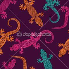 Lizards seamless pattern — Stock Illustration #45406675