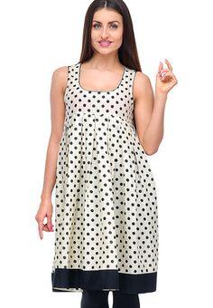 Shakumbhari Cream Printed Tunic - Buy Women Tunics Online | SH268WA02ZVTINDFAS