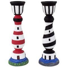 DecoArt Lighthouse Candlesticks
