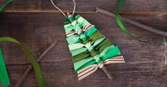 Crafters of all ages will enjoy making primitive Scrap Ribbon Tree Ornaments to gift or keep this holiday season.