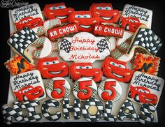 Nicholas 5th (3)-2 | Cars-themed cookies for Nicholas' 5th b… | christine-sugarcravings | Flickr