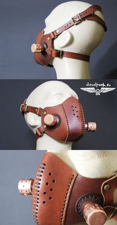 contact me here Steampunk Mask, Steampunk Fashion, Crea Cuir, Larp Armor, Steampunk Design, Leather Mask, Cool Masks, Fashion Mask, Leather Projects