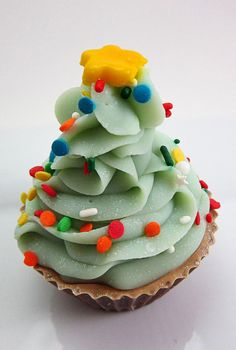 O Christmas Tree  Shea Butter Cupcake Soap by QueenCitySoaps, $5.75