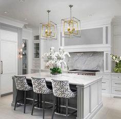 Elegant Kitchens, Luxury Kitchens, Beautiful Kitchens, Home Kitchens, Remodeled Kitchens, Beautiful Kitchen Designs, Modern Kitchens, Modern Kitchen Design, Interior Design Kitchen