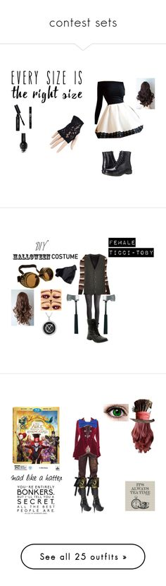 """contest sets"" by kotabear115 on Polyvore featuring Black, Circus by Sam Edelman, Bobbi Brown Cosmetics, powerlook, Outdoor Research, H&M, Worthington, River Island, halloweencostume and DIYHalloween"