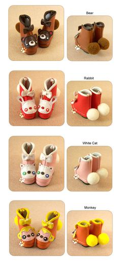 Animal boots shoes Blythe Lati Y size (10 colors). $16.00, via Etsy.