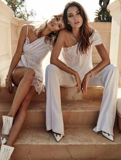 Super Natural - Lily Aldridge & Rosie Huntington-Whiteley by Simon Upton for Elle Australia June 2016