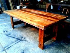 We have a great selection of dining tables made of reclaimed wood and for a short period , if you buy selected tables, we will give you a bench for a discounted price. Benches make it easier to sit...
