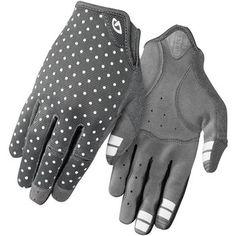 Giro La DND Women's Full Finger Glove 2017 - Dark Shadow/White Dots