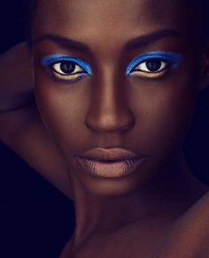 love the combination of colors on dark skin.