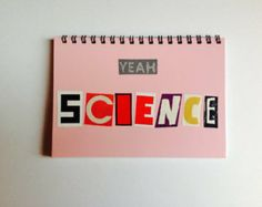 Handmade notebook - YEAH SCIENCE - breaking bad - plain pages - recycled - fab gift