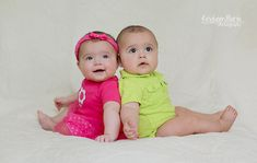 The Weymouth Twins are 6 Months Old | Indianapolis Child Photography