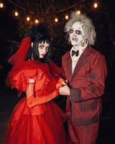 Scary Couples Halloween Costumes, Hugh Hefner Halloween Costume, Hot Couple Costumes, Beetlejuice Halloween Costume, Best Couples Costumes, Disney Characters Costumes, Funny Halloween Costumes, Halloween Cosplay, Halloween Outfits