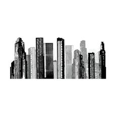 You don't have to be in Manhattan or Chicago to dream of skyscrapers and modern cityscapes. The Towers Wall Decal brings the wonder of the urban jungle right into your living room or bedroom. Unlike st...  Find the Towers Wall Decal, as seen in the The Thompson Chicago Collection at http://dotandbo.com/collections/the-thompson-chicago?utm_source=pinterest&utm_medium=organic&db_sku=RMS0003