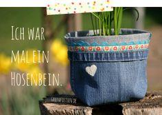greenfietsen: Jeans-Upcycling - Blumentopfkleider und Sternen-Utensilo
