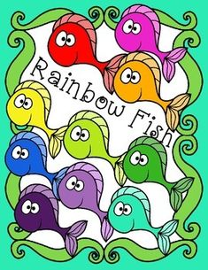Free Rainbow Fish Clip Art!This set includes nine brightly colored happy fish, and one black and white fish.All images are offered in both png and jpeg formats.  Png files can easily be layered in your projects and lesson materials. The images will have high resolution, so you can enlarge them and they will still be crisp.