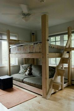 Bed and couch bunk bed