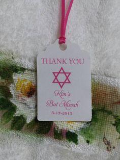 Personalized Favor Tags 2 1/2'' Bat Mitzvah  by beautifullshop
