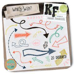 Which Way? 2 - arrow doodles by Karah Fredricks ... Digital Scrapbooking
