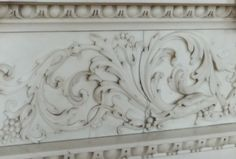 Carved marble detail
