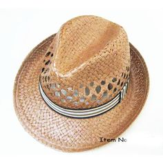 36300d103d2 Kritzer Marketing from New York NY USA Fedora hat of Lala paper straw  material with ribbon band.