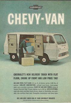 Chevrolet Chevy Van Original 1965 Vintage Print by VintageAdOrama, $9.99