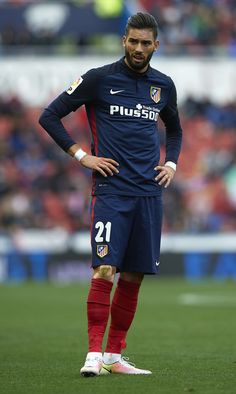 Yannick Carrasco of Atletico de Madrid looks on during the La Liga match between Levante UD and Atletico de Madrid at Ciutat de Valencia on May 8, 2016 in Valencia, Spain.
