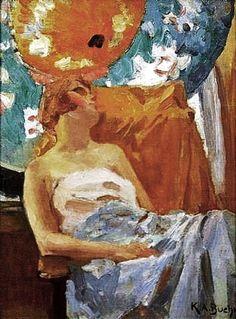 Woman with Parasols. Karl Albert Buehr