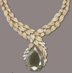an impressive colored diamond necklace, Mouawad. Christie's.