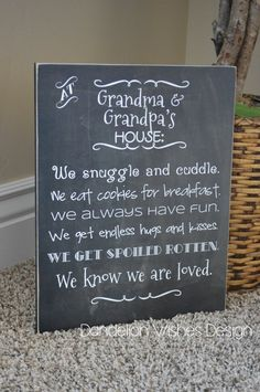 Personalized Gift For Christmas, Custom Gift For Grandma and Grandpa, Grandparents Rules Sign, Grandchildren Gift, Wooden Sign – presents for boyfriend anniversary Personalized Gifts For Grandparents, Present For Grandparents, Grandparent Gifts, Personalized Christmas Gifts, Grandma And Grandpa, Grandpa Gifts, Homemade Christmas Gifts, Great Christmas Gifts, Baby Footprint Art
