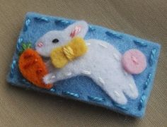 Hey, I found this really awesome Etsy listing at https://www.etsy.com/listing/94325966/easter-bunny-wool-felt-hair-clip-medium