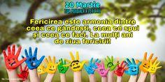 20 Martie - Ziua Mondială a Fericirii Martie