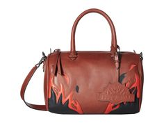 JUST CAVALLI Calf Leather with Fires Crossbody. #justcavalli #bags #shoulder bags #hand bags #leather #crossbody #
