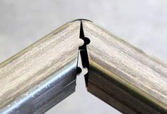 More Laser Kerf Steel Bending: The HandBend Furniture Design System - Furniture Repair, Metal Furniture, Furniture Design, Vintage Industrial Furniture, Industrial Table, Steam Bending Wood, Metal Bending, Custom Woodworking, Woodworking Projects Plans