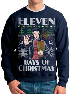 STRANGER THINGS Ugly Christmas sweater Eleven Days of Christmas -- pullover sweatshirt -- s m l xl xxl xxxl Best Ugly Christmas Sweater, Holiday Sweater, Christmas Jumpers, Stranger Things Christmas Sweater, Eleven Stranger Things, Stranger Things Gifts, Holiday Wardrobe, Cultura Pop, Ugly Sweater