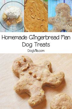 Get ready to spoil your pooch with our tasty homemade gingerbread man dog treats recipe! Makes a great Christmas gift or tree ornament too! Pumpkin Dog Treats, Homemade Dog Treats, Healthy Dog Treats, Doggie Treats, Dog Treat Recipes, Baby Food Recipes, Cat Care Tips, Pet Tips, Dog Care