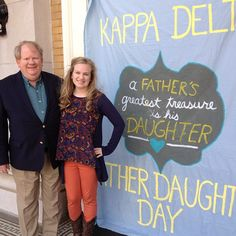 Kappa Delta banner for Father Daughter Day. Make the day even more special with a banner that has a cute quote or saying. #KD
