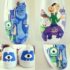 hand-painted Disney shoes Monsters University