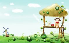 Watermelon Cartoon Kids Wallpaper Free Wallpaper Res: Added on March 12 Tagged : Wallpaper at MoshLab Wallpaper Wallpaper Free, Cartoon Wallpaper Hd, Kids Wallpaper, Computer Wallpaper, Cartoon Birds, Girl Cartoon, Benefits Of Eating Watermelon, Watermelon Cartoon, Watermelon Wallpaper