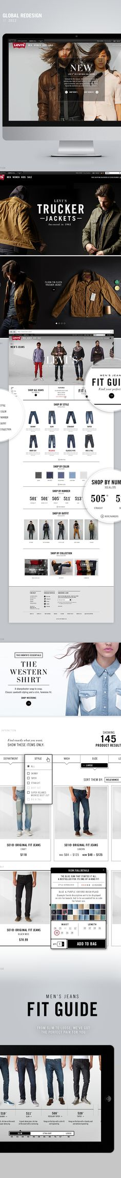 Levis.com Redesign by Annmarie Akong, via Behance